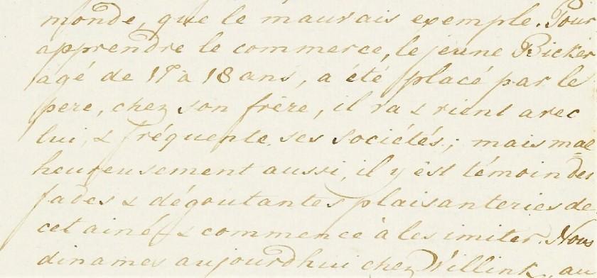 Margaretha Jacoba de Neufville ergert zich aan de zonen van Bicker